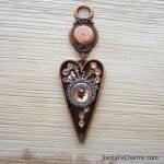Hashtag Heart with Copper Fob