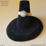 6 gold Chalcedony ring