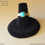 6 gold ring with Amazonite