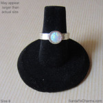 6 gold ring Opal