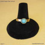 7 gold ring with Amazonite