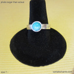 7 silver ring with Amazonite