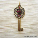 Small Ruby Rosette Key