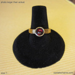 7 gold ring  Ruby