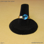 7 gold  ring with Blue Rocket Crystal