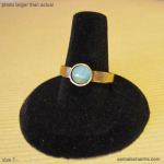 7 gold ring light Chrysoprase