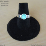 6 silver ring with Amazonite