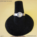 7 silver ring with Catseye Moonstone